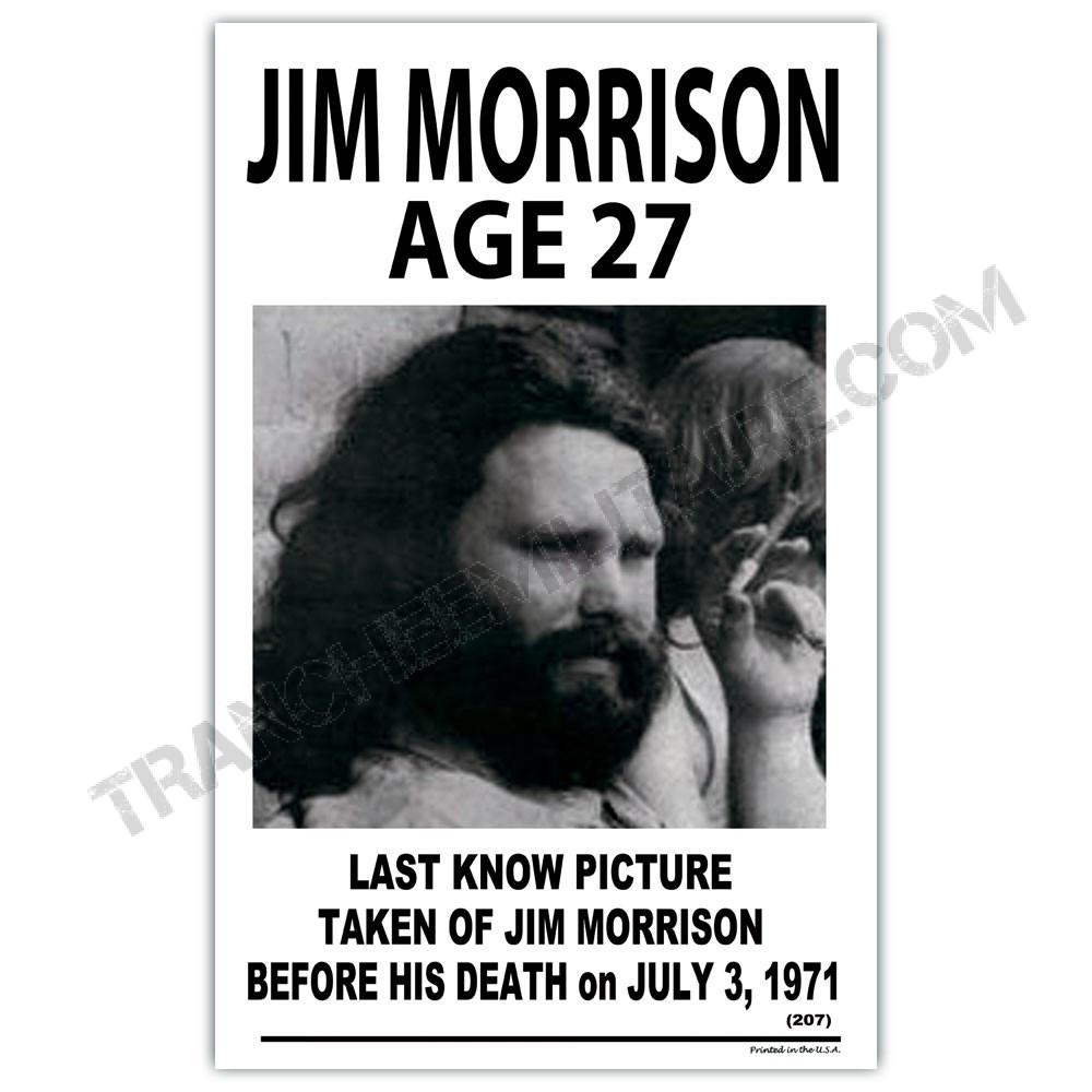Affiche Jim Morrison 27 ans