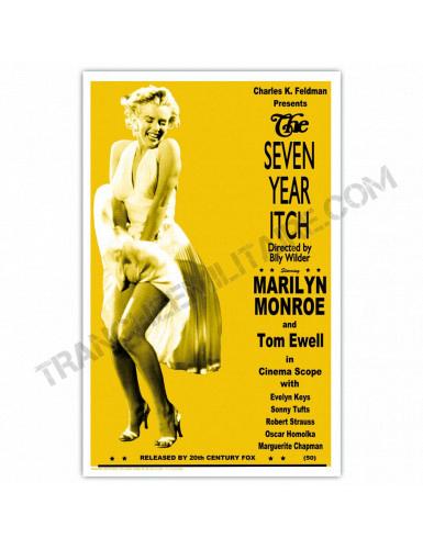 Affiche Marilyn Monroe (7 ans de réflexion)