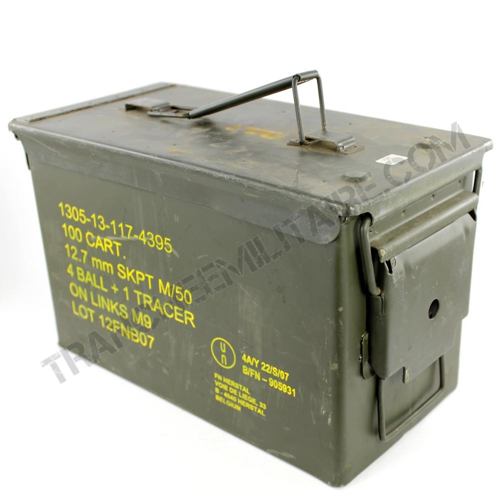 Caisse à munitions Cal. 50 ou 5.56
