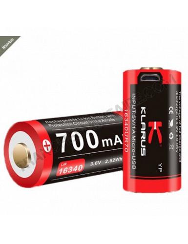 Batterie rechargeable pour lampe tactique Klarus XT1C / RS16