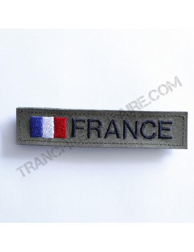 Bande patronymique personnalisable France kaki
