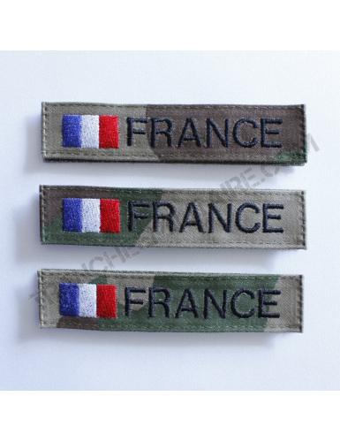Lot de 3 bandes patronymiques personnalisables France (fond CE)