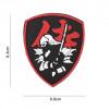 Patch 3D PVC : Bouclier Samouraï , rouge