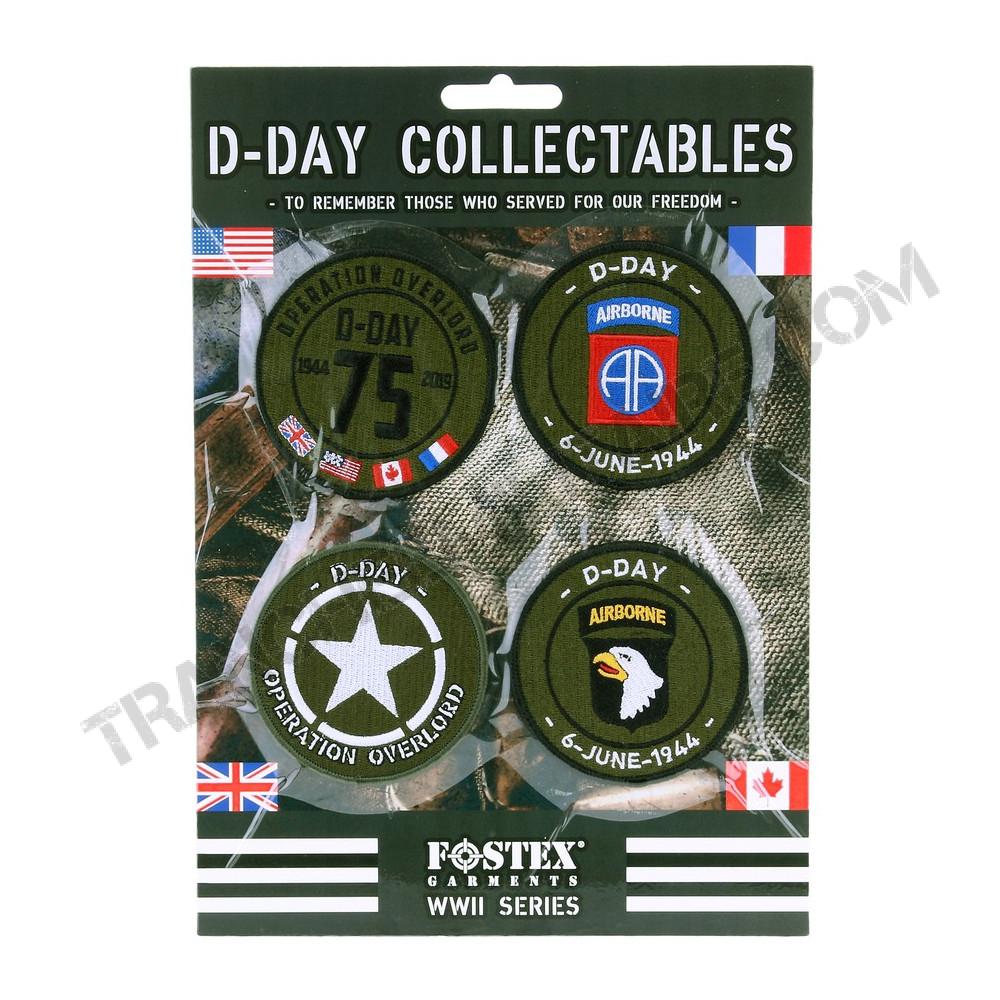Lot de 4 patchs D-Day collector