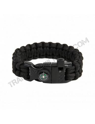 Bracelet de survie EDCX Cobra (noir)