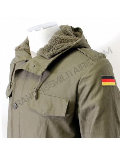 Armée Allemande Parka avec doublure et capuche en olive vert d/'occasion