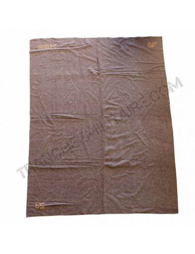 Couverture marron en laine Armée française (240*180 cm)