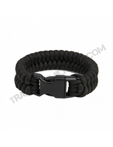 """Bracelet de survie EDCX """"Fish"""" (noir)"""