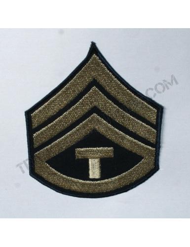 """Lot de 2 Grades US Army Seconde Guerre Mondiale """"SERGENT CHEF TECHNICIEN"""" (reproduction)"""