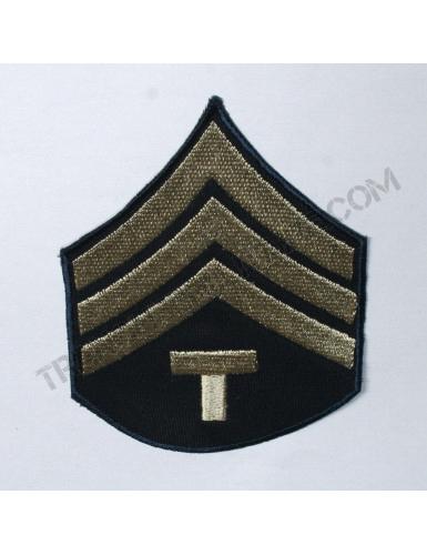 """Lot de 2 Grades US Army Seconde Guerre Mondiale """"SERGENT TECHNICIEN"""" (reproduction)"""