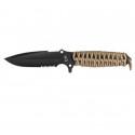 Couteau Maraudeur® paracord 550 serration (coyote)