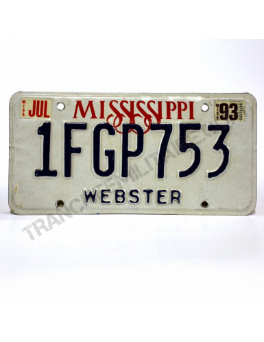 Plaque US Mississippi Webster