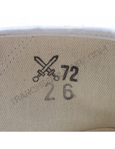 Chaussures en toile de l'Armée tchécoslovaque (blanches)