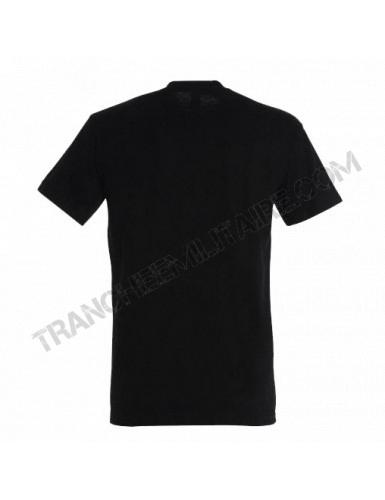 T-shirt noir (100% coton)