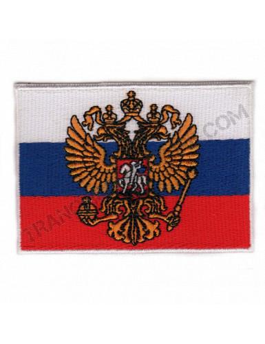 Patch drapeau Russie avec armoiries