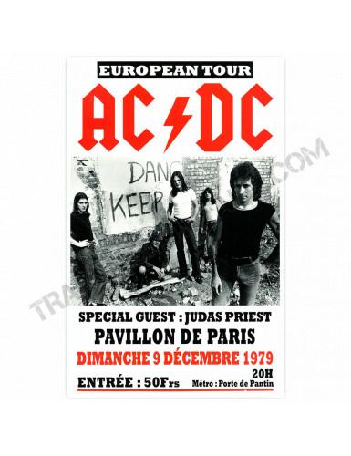 Affiche AC/DC Paris