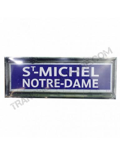 Plaque Métro St Michel...