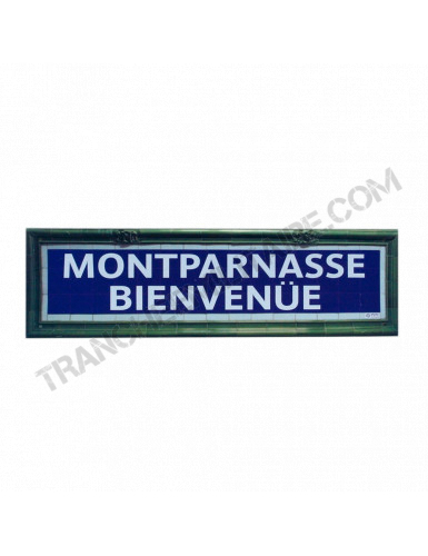 Plaque Métro Montparnasse