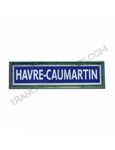 Plaque Métro Havre-Caumartin