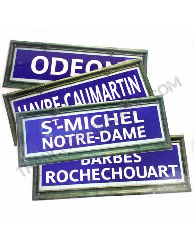Lot 4 plaques Métro