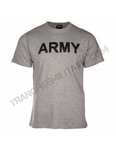 T-shirt gris Army