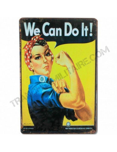 Plaque vintage WE CAN DO IT !