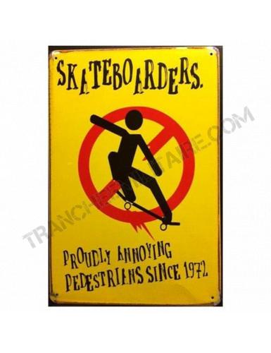 """Plaque vintage """"Skate..."""