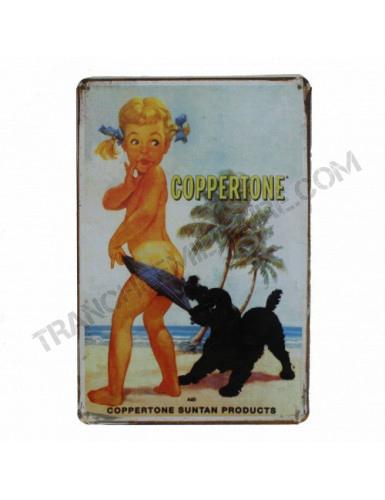 """Plaque vintage """"Coppertone..."""