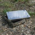 Boîte en laiton chromé (15*12 cm)