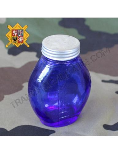 Fiole en verre teinté