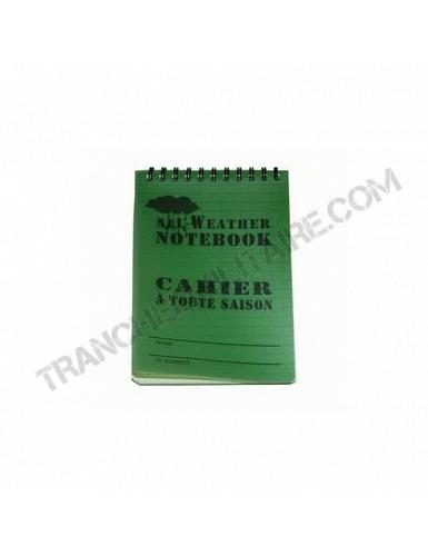 Carnet tous temps waterproof (10*15 cm)