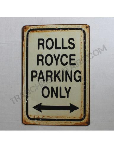 Plaque Rolls Royce en métal