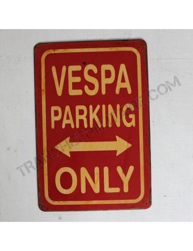 Plaque Vespa en métal