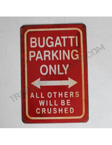 Plaque Bugatti en métal