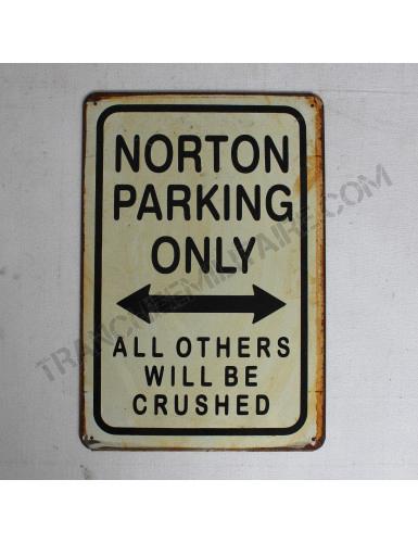 Plaque Norton en métal