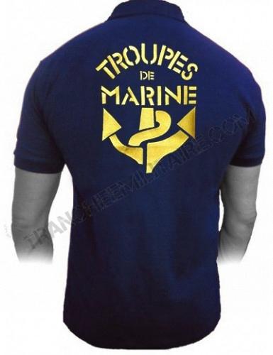 Polo brodé Troupes de Marine